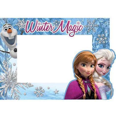 disney paper picture frames frozen trio elsa anna olaf
