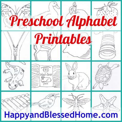 free preschool alphabet printables happy and blessed home 355 | preschool alphabet printables free stuff