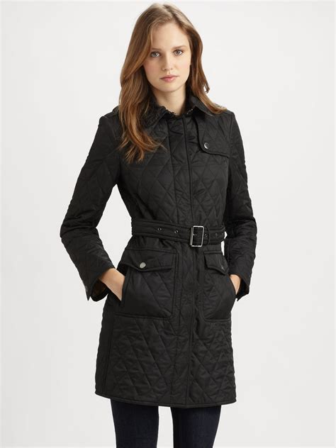 s burberry quilted jacket burberry brit s black trill bridge trench