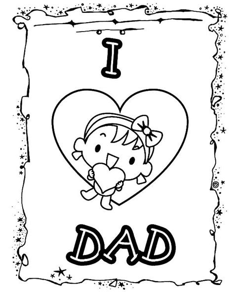 happy father day card  love dad coloring pages coloring sky fathers day coloring page