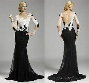Long Black And White Prom Dresses – Where Is Lulu Fashion ...