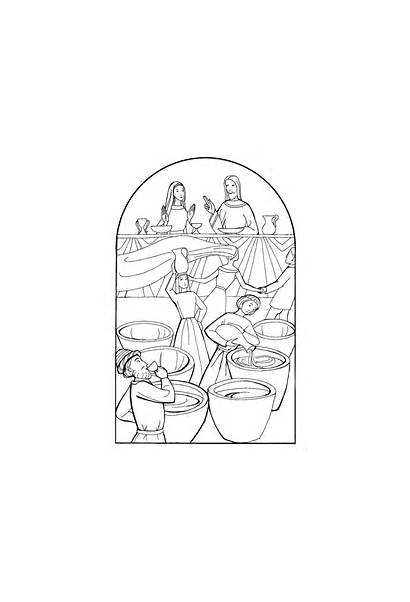 Cana Coloring Pages Colouring Jesus Getdrawings