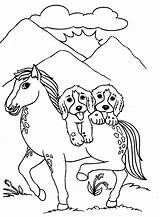 Coloring Pages Dog Dogs Horse Malowanki Colouring Puppies Printable Animals Puppy Drawing Animal Kolorowanki Pies Printing Printables Faithful Getcoloringpages Adult sketch template