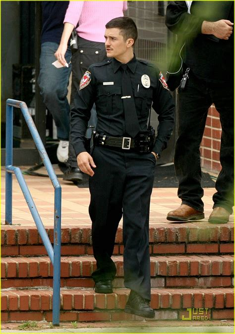 orlando bloom  police officer protective photo