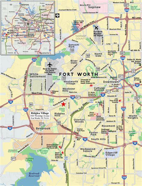 fort worth texas map bnhspine com
