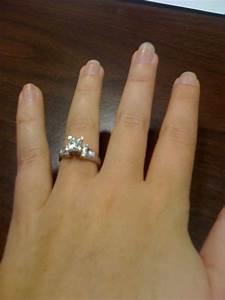 Show me your 1 carat princess cut e-rings - Weddingbee
