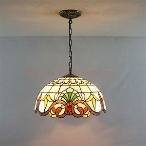 Quot tiffany style stained glass pendant lights bronze