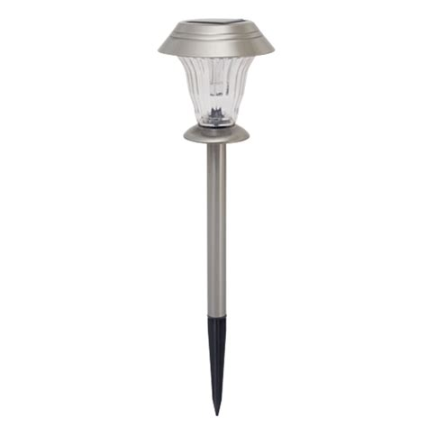 arlec stainless steel led glass tier solar path light