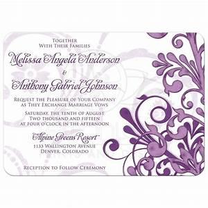 wedding invitation purple abstract floral With wedding invitation designs violet