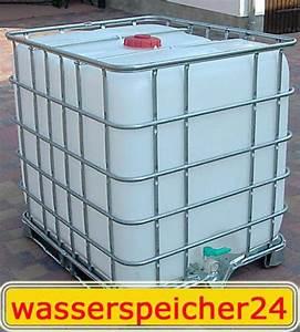 Zisterne 1000 Liter : 1000 liter ibc container wei tonne zisterne wasserfass auf metallunterbau in erfurt sonstiges ~ Frokenaadalensverden.com Haus und Dekorationen