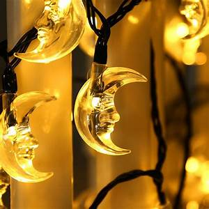 Solar Christmas String Lights Luckled Original Moon Solar String Lights 20ft 30 Led