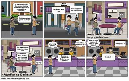 Comic Strip Filipino Storyboard Learning Slide