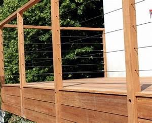 Garde Corps Terrasse Inox : menuiserie terrasses en bois nantes bardage pornic ~ Melissatoandfro.com Idées de Décoration