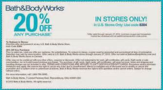 Coupon Codes Bath And Body Works Image