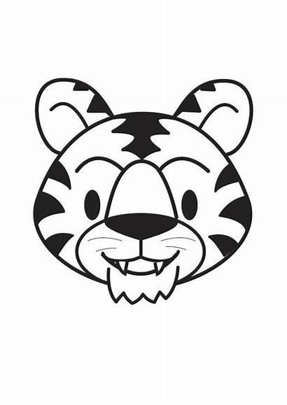 Tiger Head Coloring