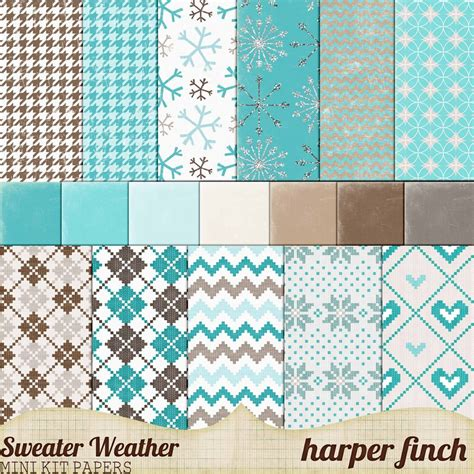 sweater weather sweater weather mini kit papers by harperfinch on deviantart
