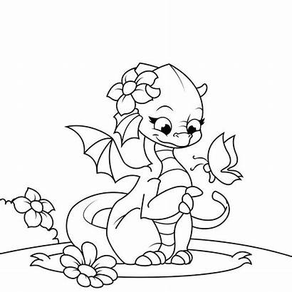 Dragon Coloring Pages Dragons Printable Adults Fire