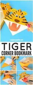 Tiger Corner Bookmarks - DIY Origami for Kids - Easy Peasy