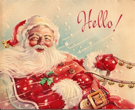 vintage christmas cards down to earth stuff