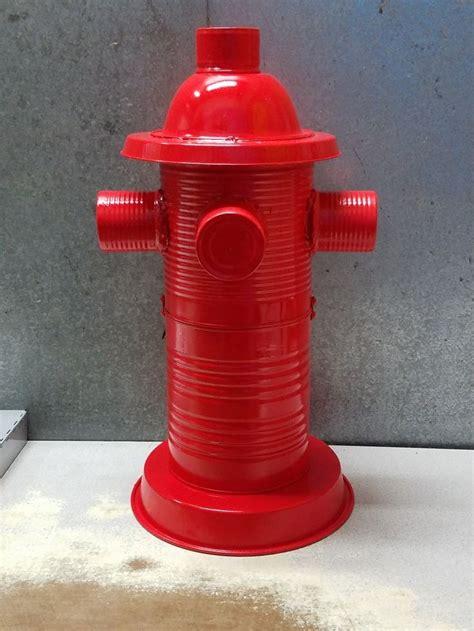 fire hydrant tin art yard art diy dog party fire