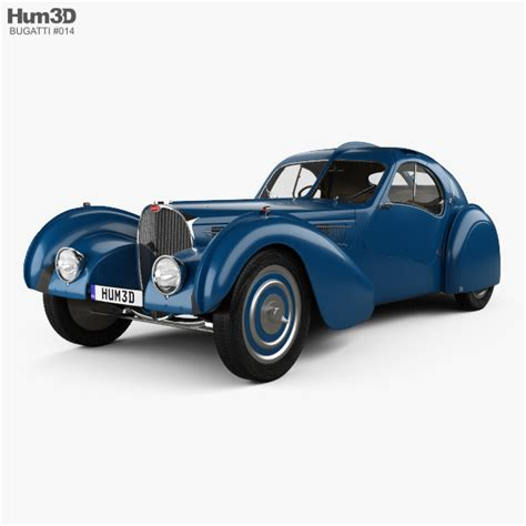 What makes a car excite the imagination? Bugatti Type 57SC Atlantic with HQ interior 1936 3D model - Vehicles on Hum3D