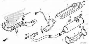 Honda Atv 2016 Oem Parts Diagram For Exhaust Muffler