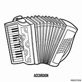 Coloring Instruments Musical Piano Children Accordion Scarica Simili Contenuti Bozzetto Cerca Shutterstock sketch template