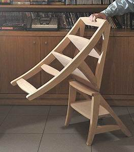 Klappstuhl Selber Bauen : the chair that turns into a step stool ~ Orissabook.com Haus und Dekorationen