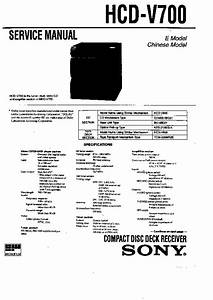 Sony Hcd-v700  Mhc-v700 Service Manual