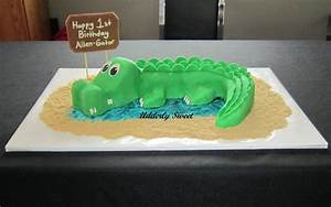 alligator cake cakecentralcom With crocodile birthday cake template