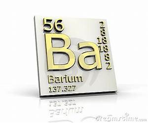Barium Form Periodic Table Of Elements Royalty Free Stock ...