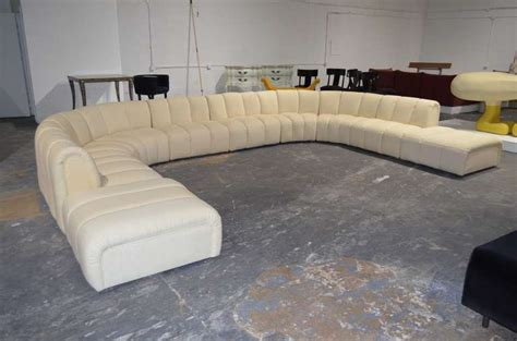 couch with large ottoman wonderful large sectional sofa in the manner of desede at