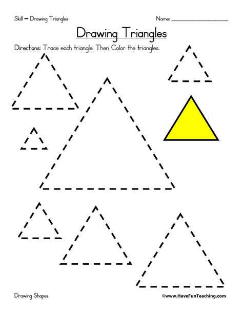 drawing triangles worksheet triangle worksheet shapes