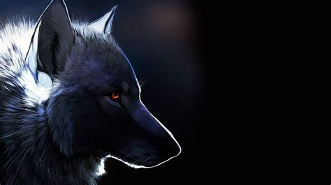 Wallpaper Black Wolf Background by Black Wolf Wallpapers Images Photos Pictures Backgrounds
