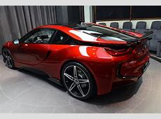 OneOff Lava Red BMW i8 from Abu Dhabi