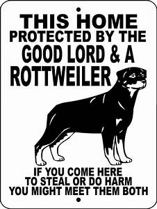 ROTTWEILER Guard Dog Aluminum Sign Vinyl GRAPHICS APPLIED ...