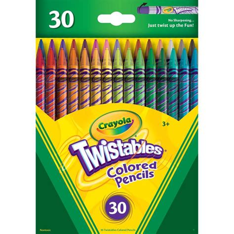crayola coloring pencils crayola 30 count twistable colored pencils