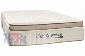 Revolution boxtop bamboo cover gel infused memory foam for Bed boss mattress reviews