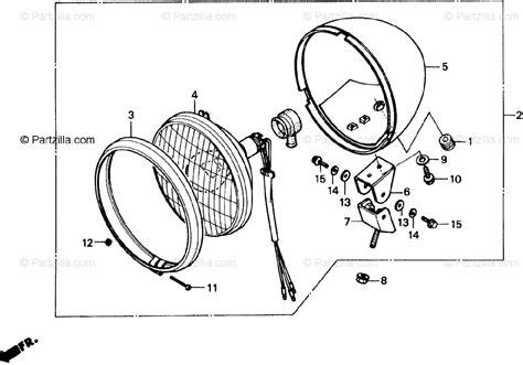 Honda Motorcycle Oem Parts Diagram For Headlight