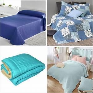 Couvre Lit Bleu : jet de lit bleu prix et mod les avec kibodio ~ Teatrodelosmanantiales.com Idées de Décoration