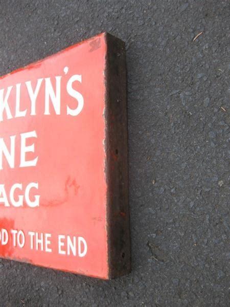 shop stuff  enamel sign franklyns fine shag