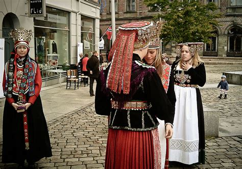 Traditional Norwegian Wedding And Marriage Clothing