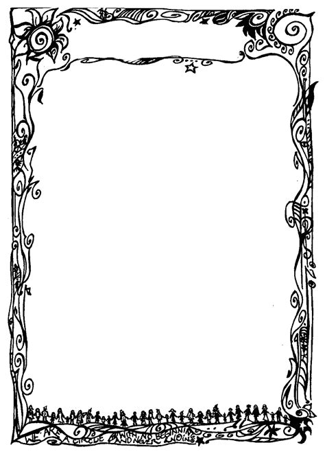 fancy borders  word documents seivo clipart