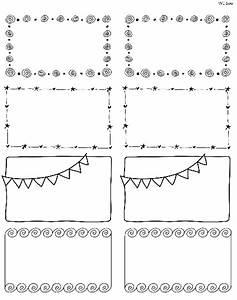 Printable Doodle Borders Labels by InkTreePress ...