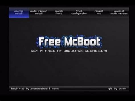 how to install free mcboot your slim ps2 especi youtube
