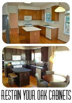 how to restain oak kitchen cabinets oak cabinet makeovers gel stains and general finishes on 8892