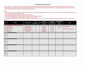 Best Photos of Project Action Plan Template XLS - Project ...