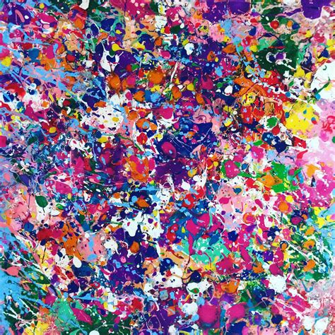 paint colorful abstract canvas splatter painting colorful painting