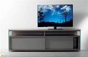 Mobile tv basso moderno con ante scorrevoli Media Arredo
