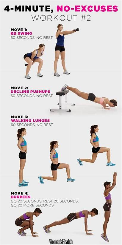 Workout Minute Fitness Workouts Exercise Excuses Health